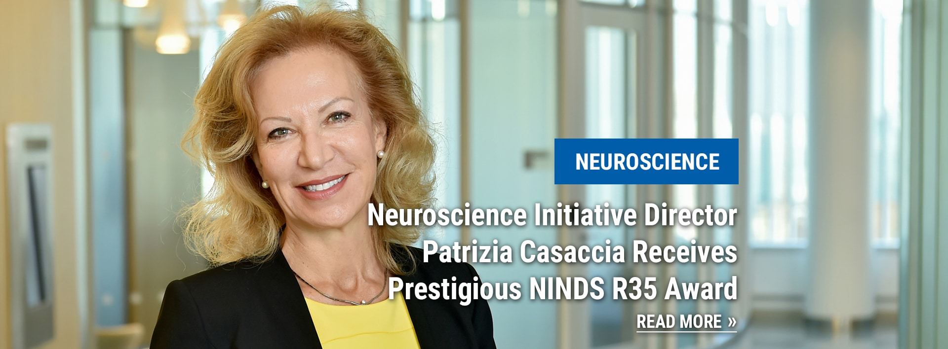 Structural Biology news: Neuroscience Initiative Director Patrizia Casaccia Receives Prestigious NINDS R35 Award