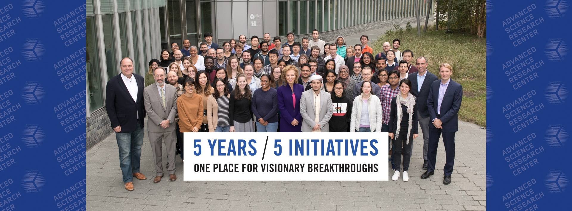 5 Years / 5 Initiatives / One Place for Visionary Breakthroughs