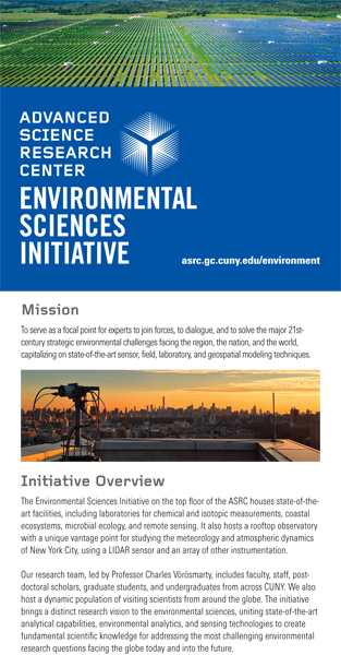 Environmental Sciences Initiative info flyer - thumbnail