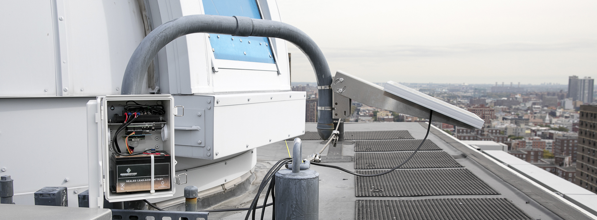 rooftop observatory and environmental instruments
